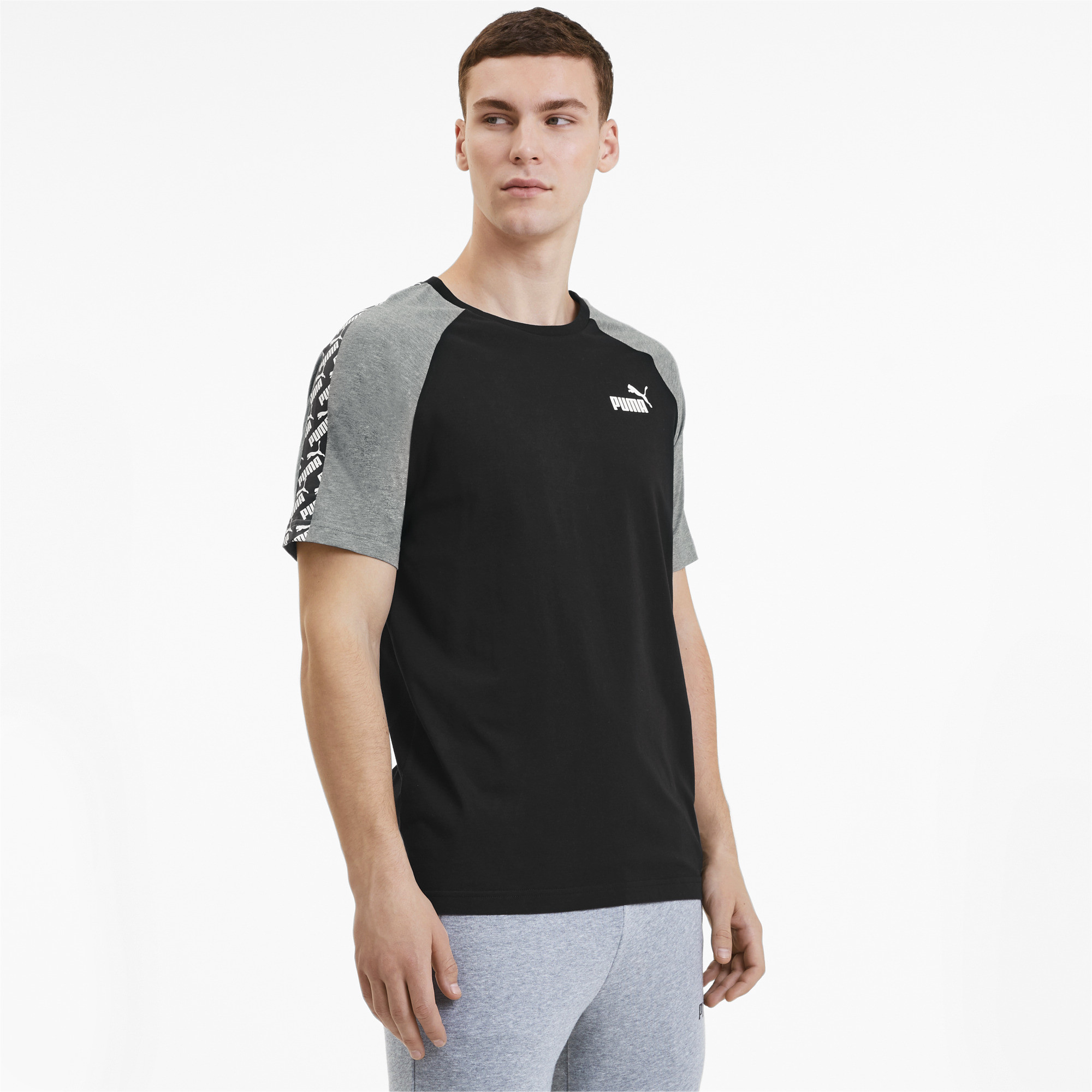PUMA-Amplified-Men-039-s-Raglan-Tee-Men-Tee-Basics thumbnail 12