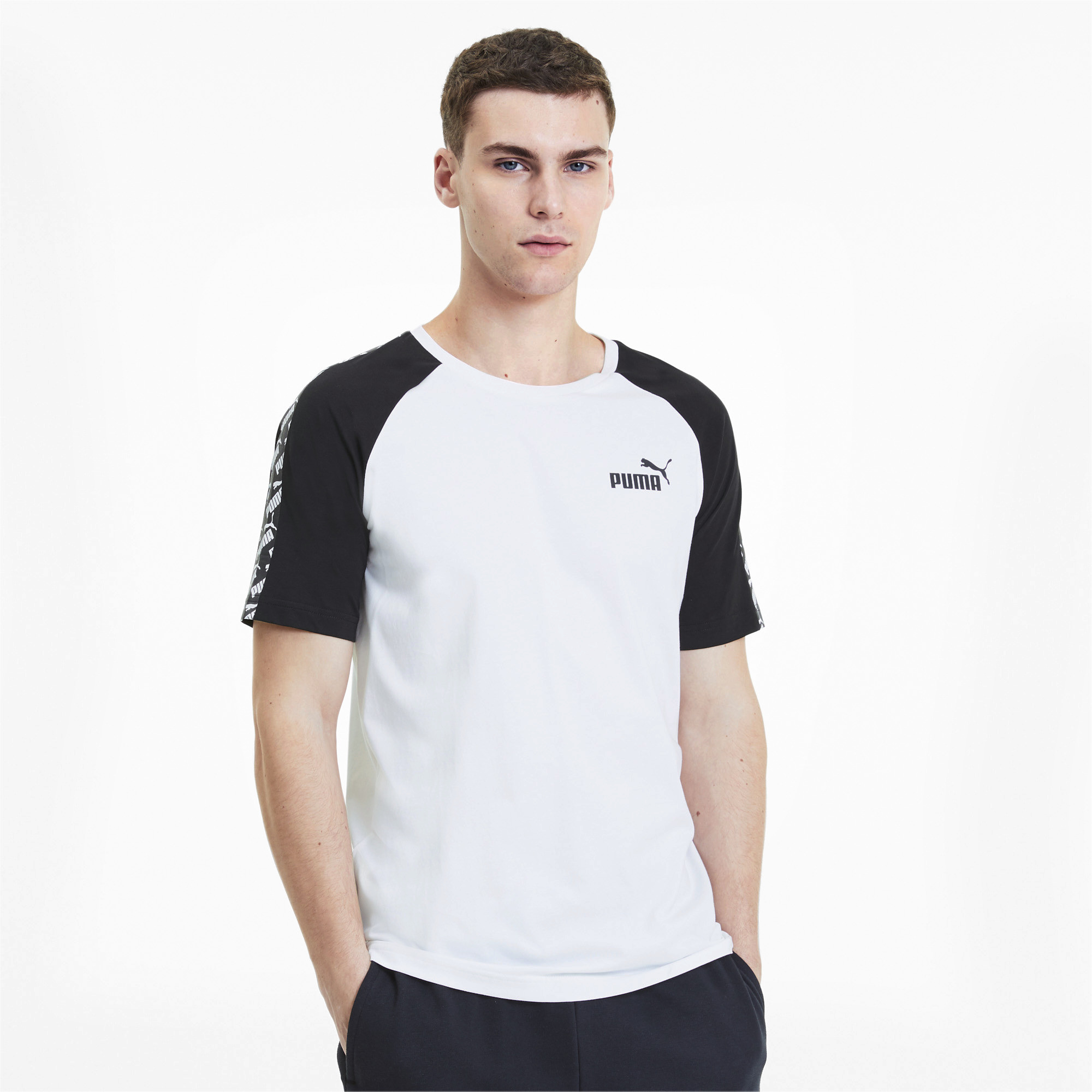 PUMA-Amplified-Men-039-s-Raglan-Tee-Men-Tee-Basics thumbnail 4
