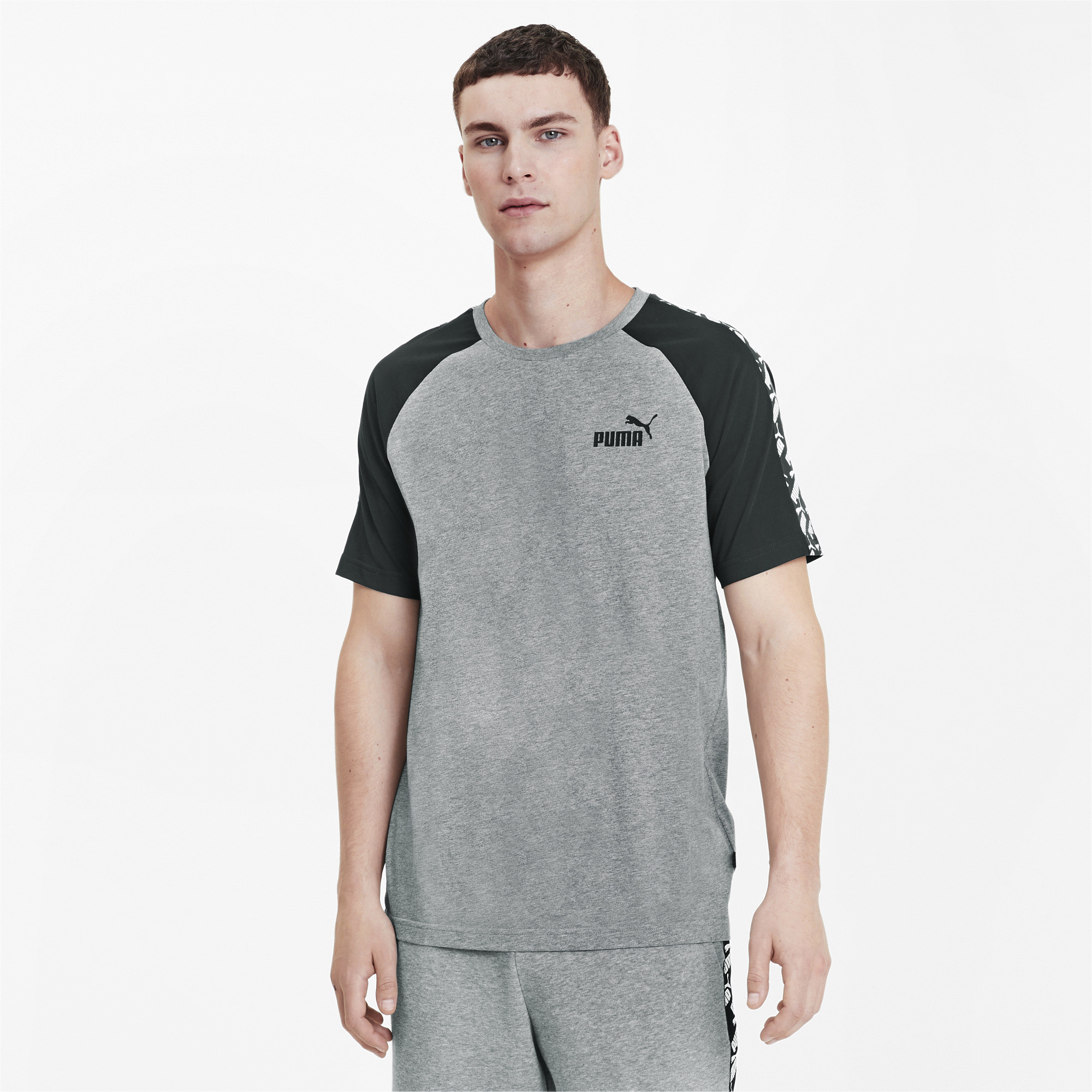 PUMA-Amplified-Men-039-s-Raglan-Tee-Men-Tee-Basics thumbnail 8