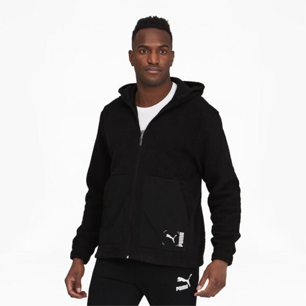 Puma Nu-Tility Men's Full Zip Hoodie In Black, Size S