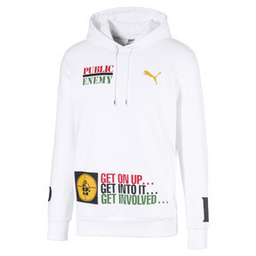 Thumbnail 1 of PUMA x PUBLIC ENEMY Men's Hoodie, Puma White, medium