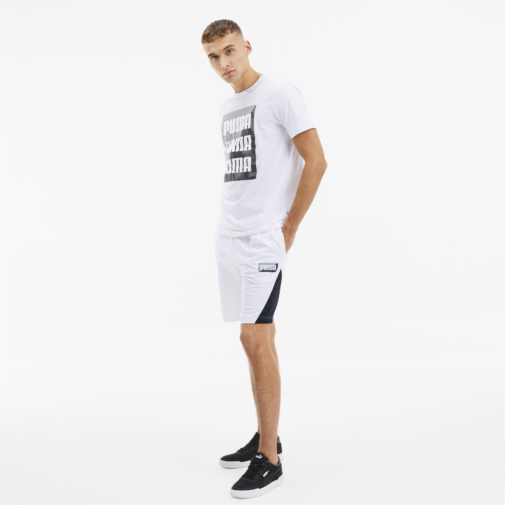PUMA-Men-039-s-Summer-Print-Graphic-Tee thumbnail 6