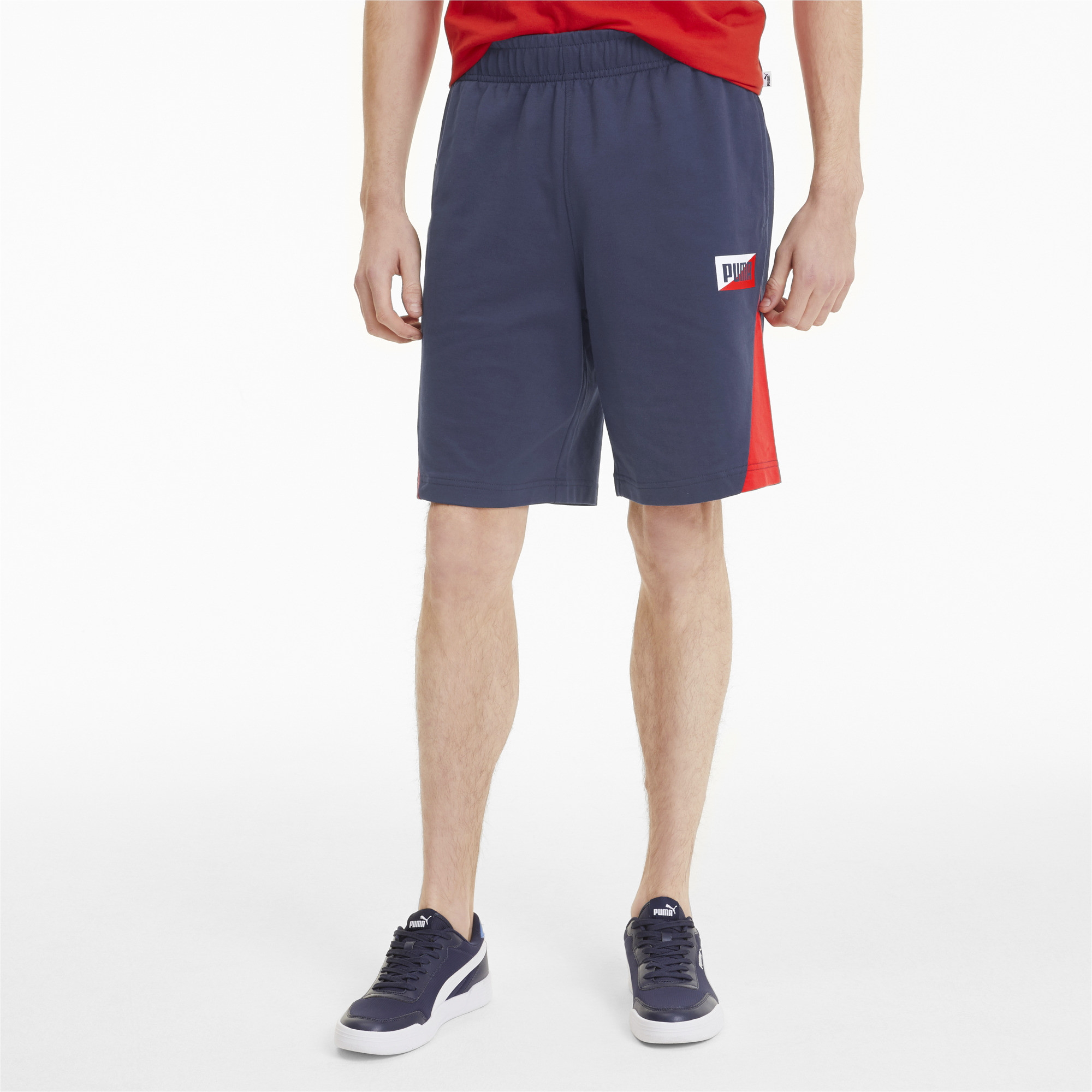 PUMA-Summer-Print-Men-039-s-Shorts-Men-Knitted-Shorts-Basics thumbnail 4