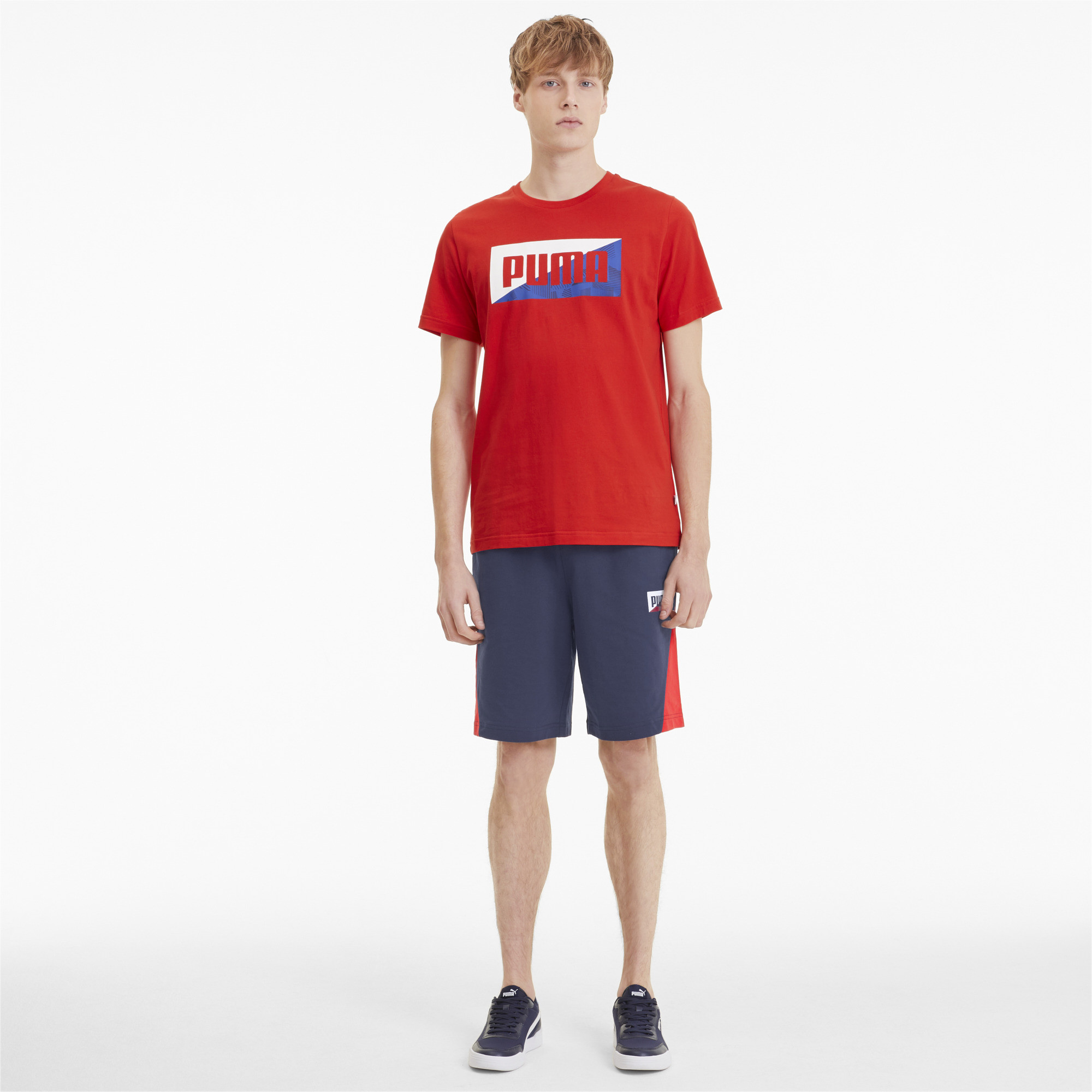 PUMA-Summer-Print-Men-039-s-Shorts-Men-Knitted-Shorts-Basics thumbnail 6