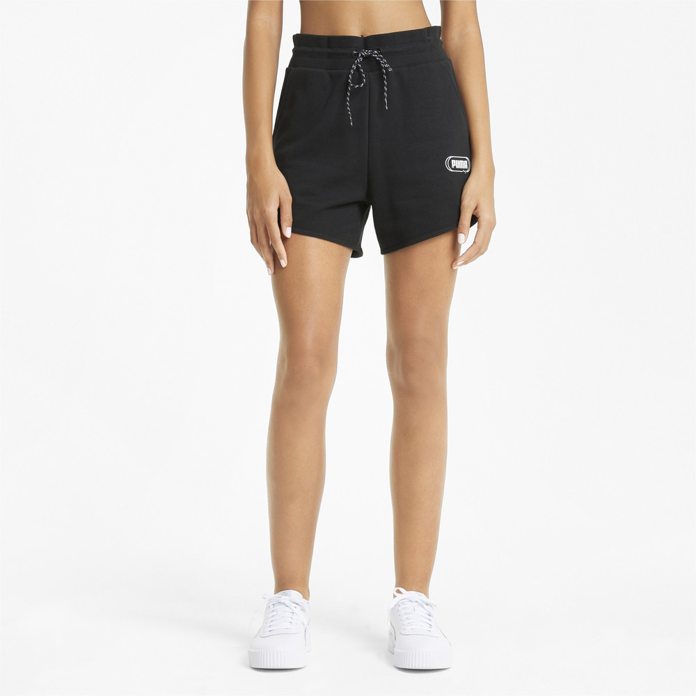 Image PUMA Rebel High Waist Women's Shorts #1