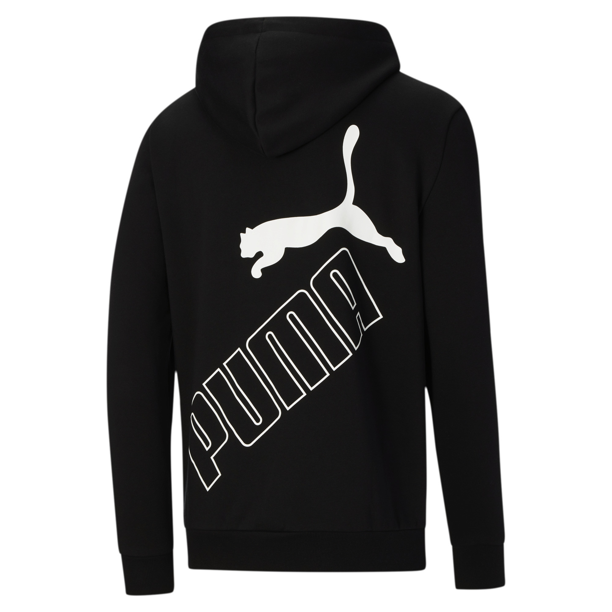 thumbnail 3 - PUMA Men's Big Logo Full Zip Back Hoodie