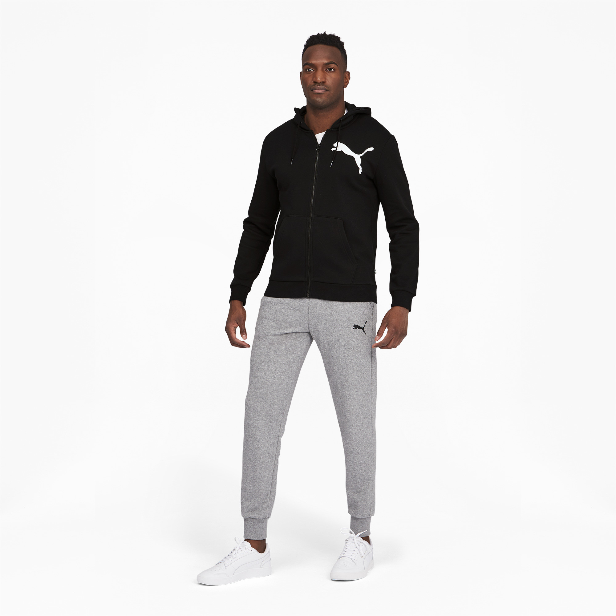 thumbnail 6 - PUMA Men's Big Logo Full Zip Back Hoodie