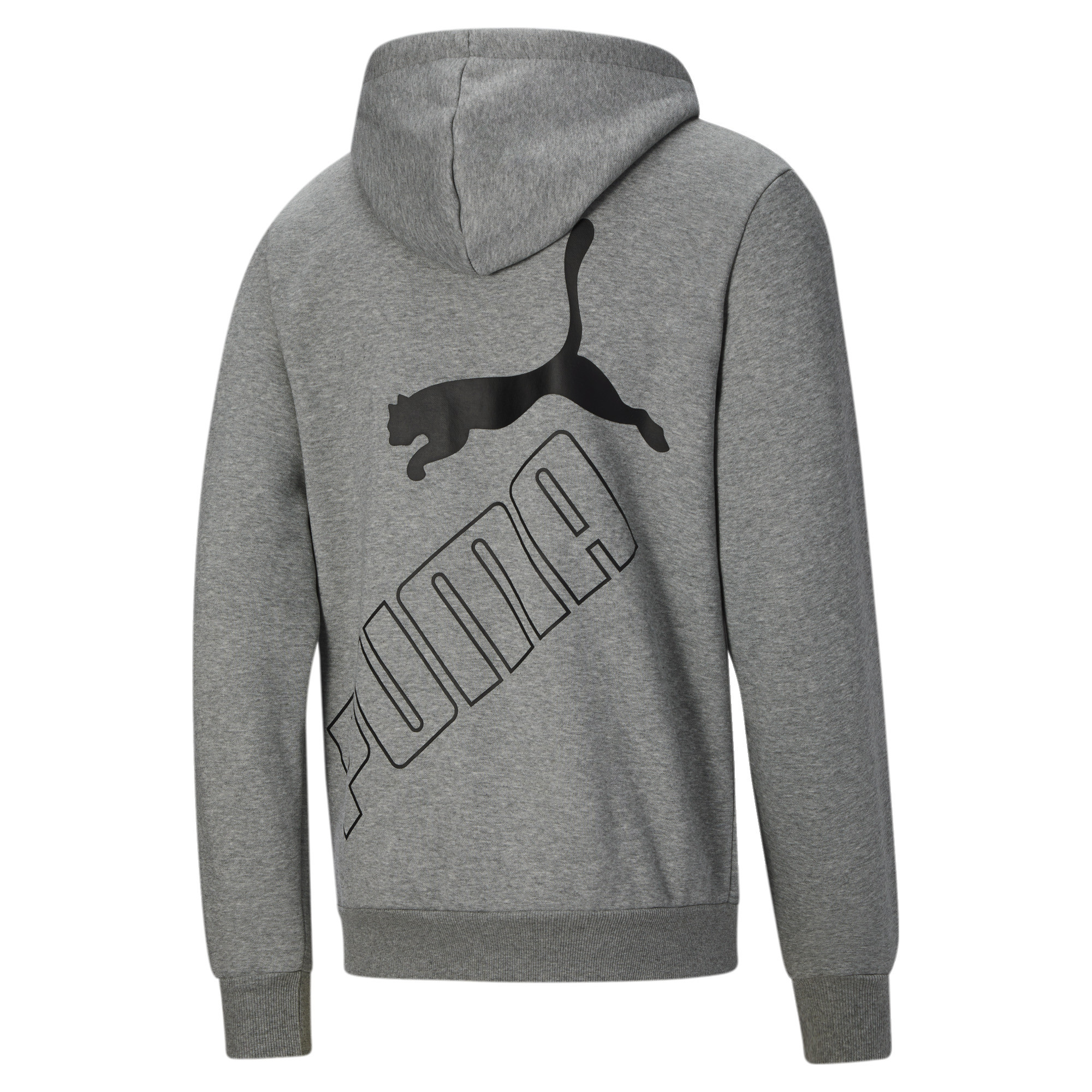 thumbnail 8 - PUMA Men's Big Logo Full Zip Back Hoodie