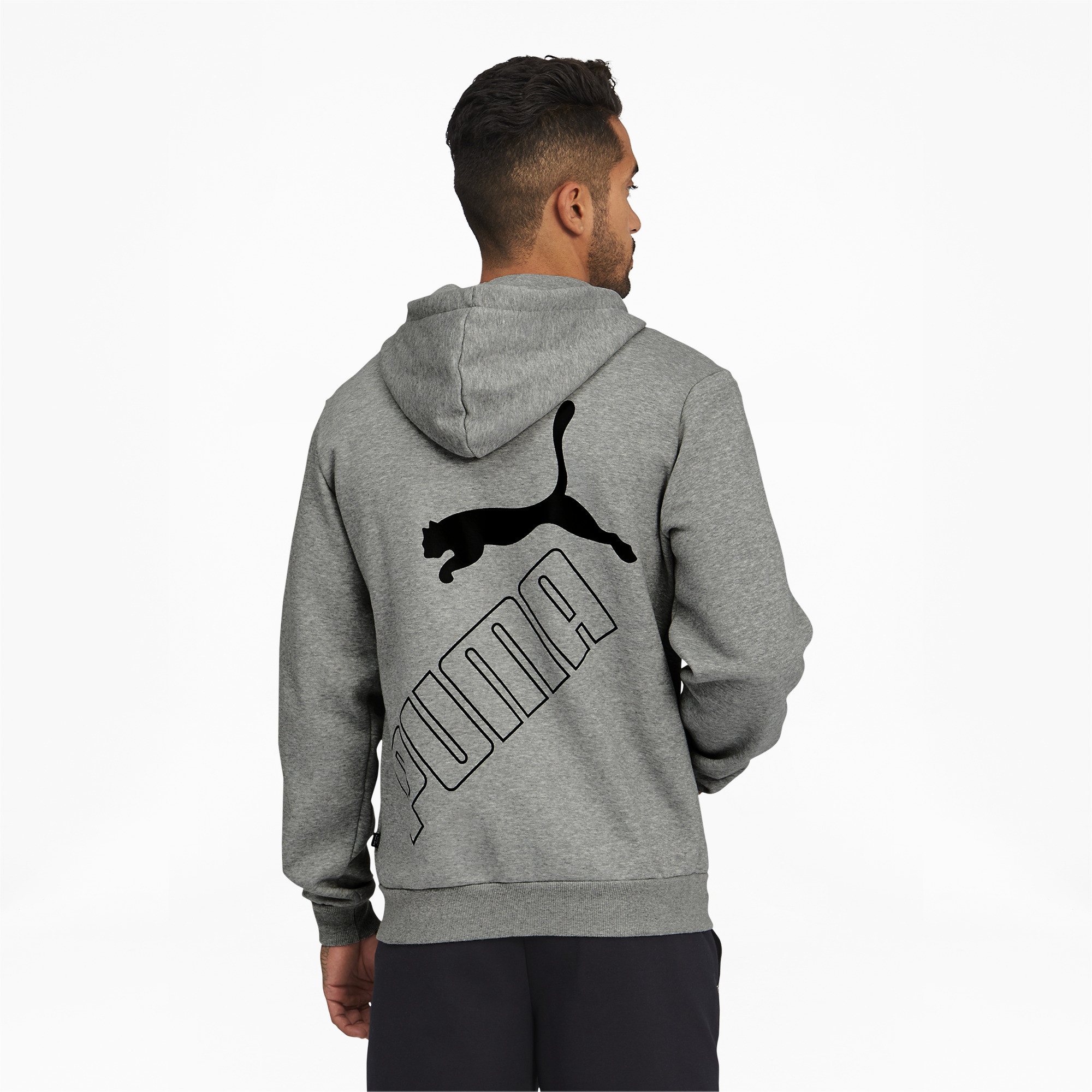 thumbnail 10 - PUMA Men's Big Logo Full Zip Back Hoodie