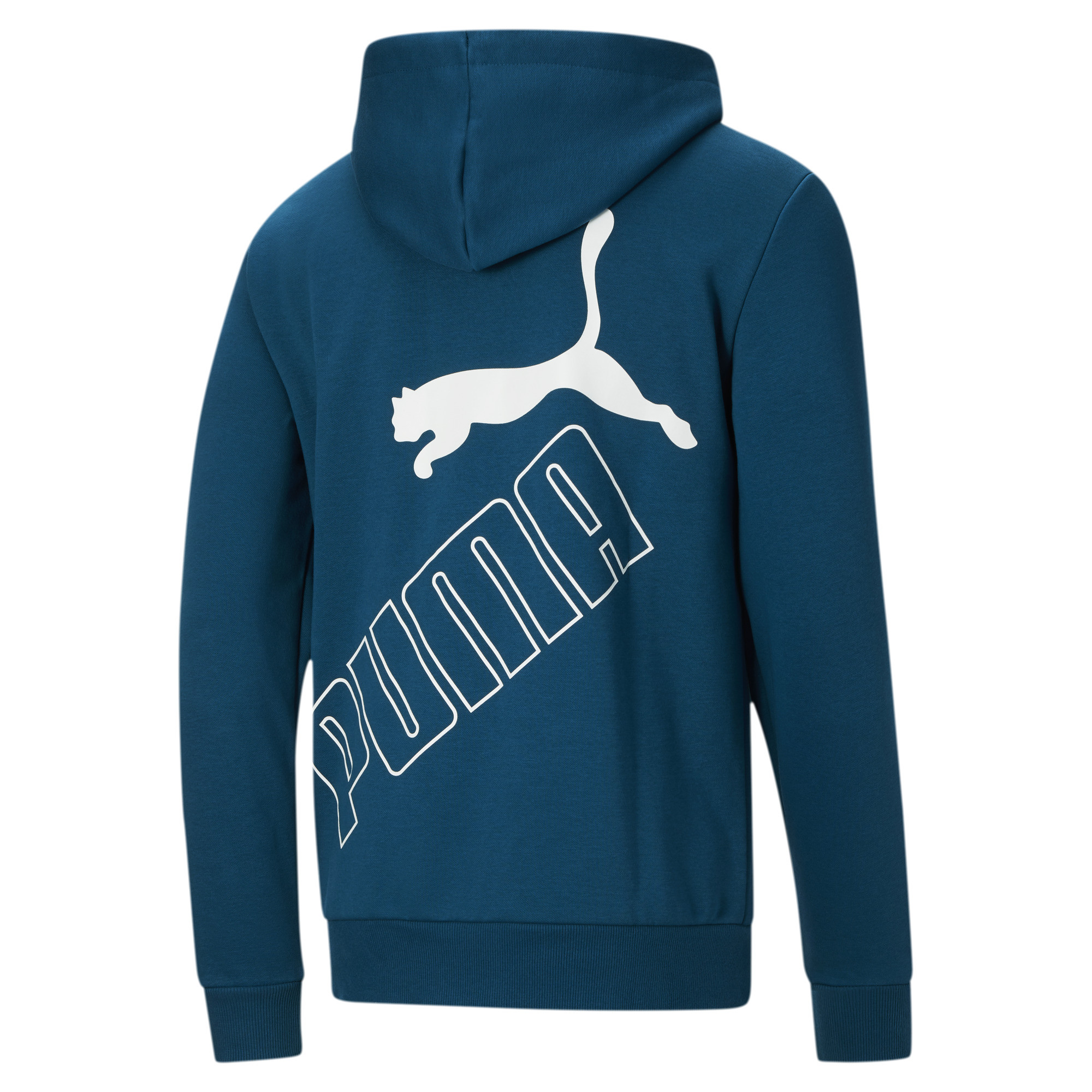 thumbnail 13 - PUMA Men's Big Logo Full Zip Back Hoodie