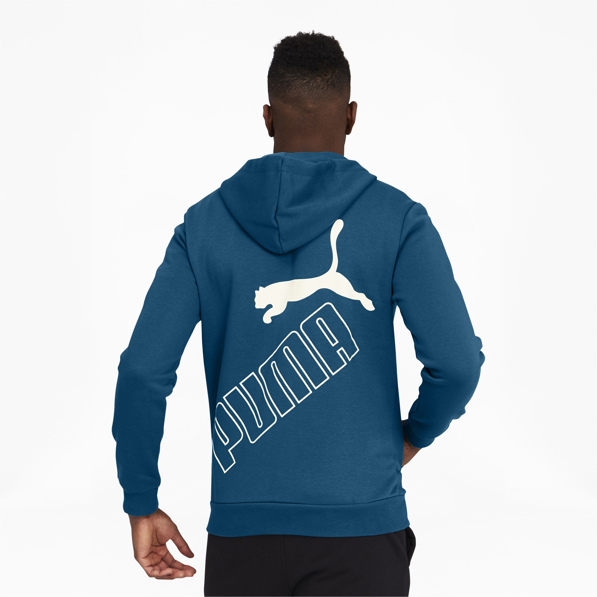 thumbnail 15 - PUMA Men's Big Logo Full Zip Back Hoodie