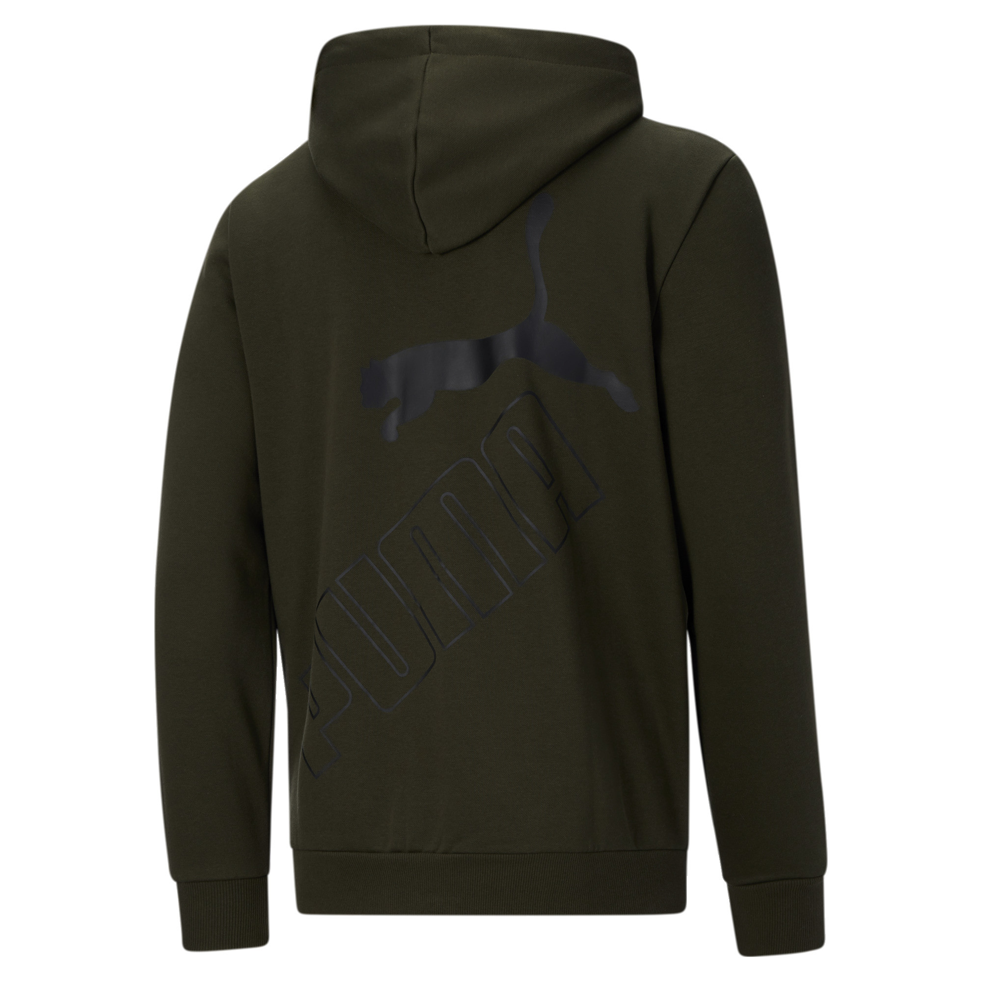 thumbnail 18 - PUMA Men's Big Logo Full Zip Back Hoodie