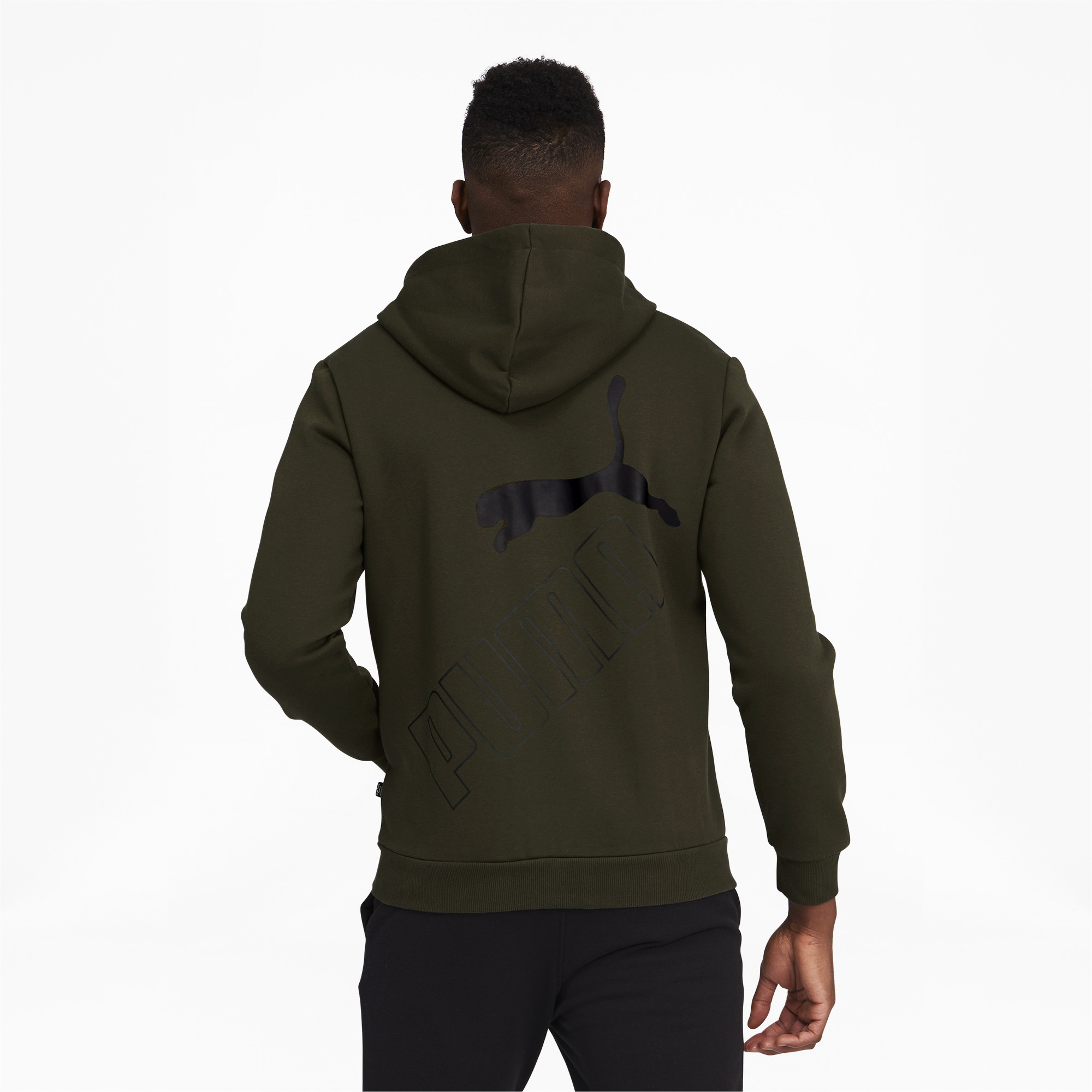 thumbnail 20 - PUMA Men's Big Logo Full Zip Back Hoodie