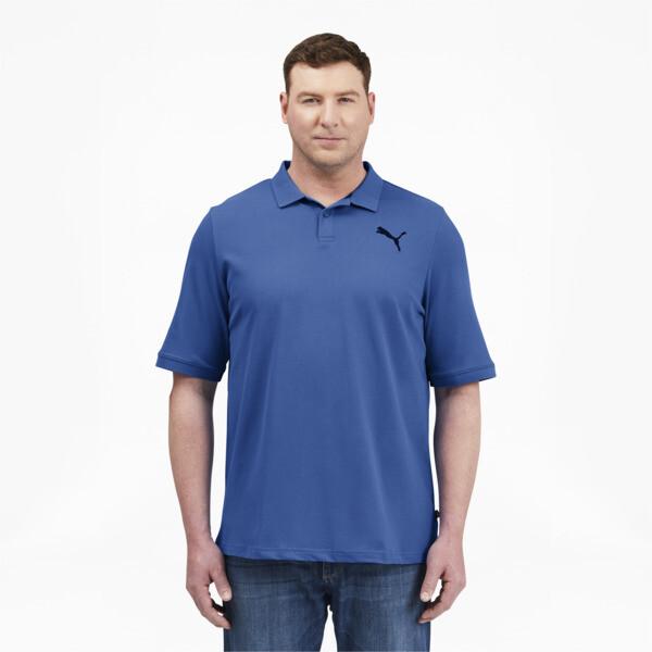 Puma Essentials Men's Pique Polo Shirt Bt In Star Sapphire, Size Lt