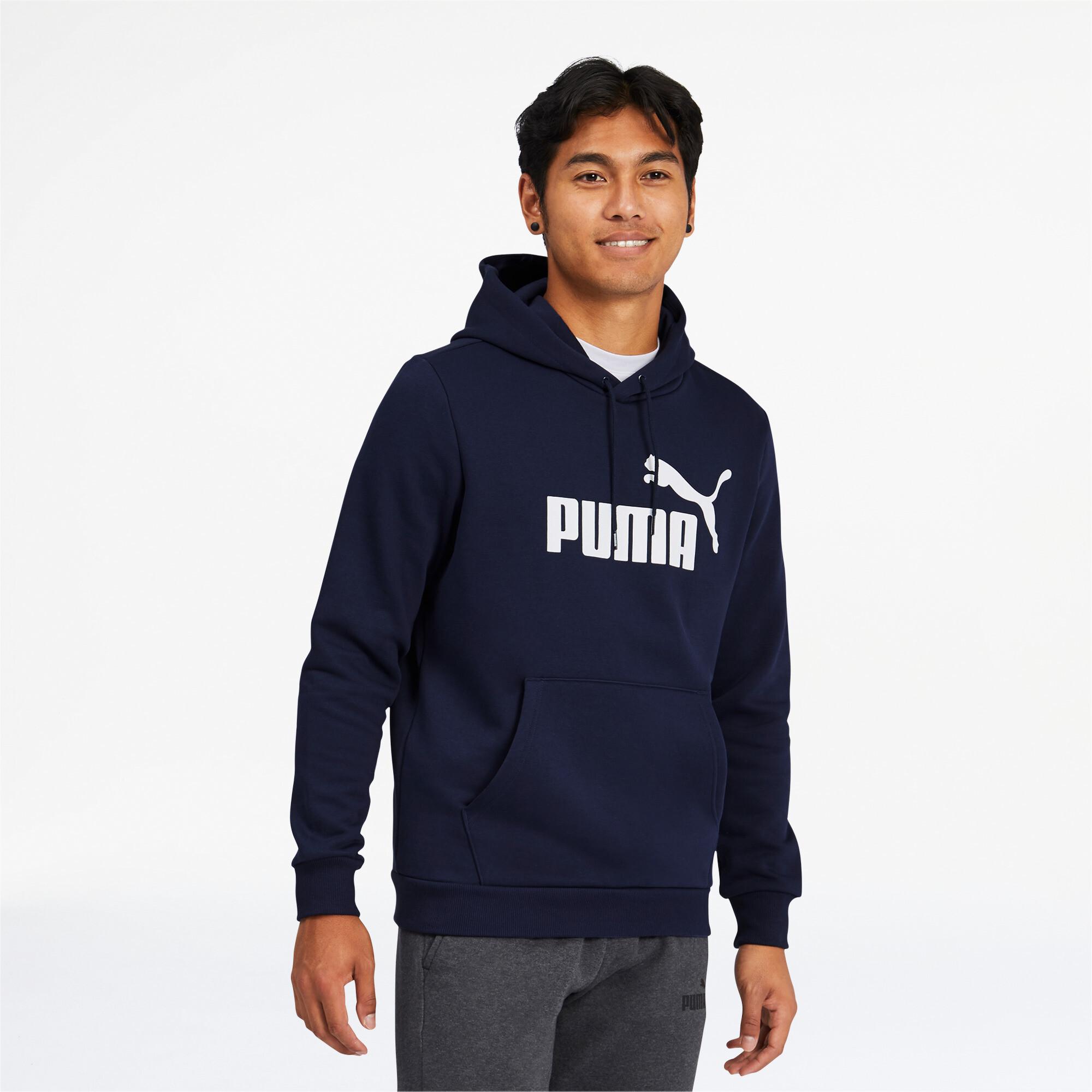 PUMA-Men-039-s-Essentials-Big-Logo-Hoodie thumbnail 4