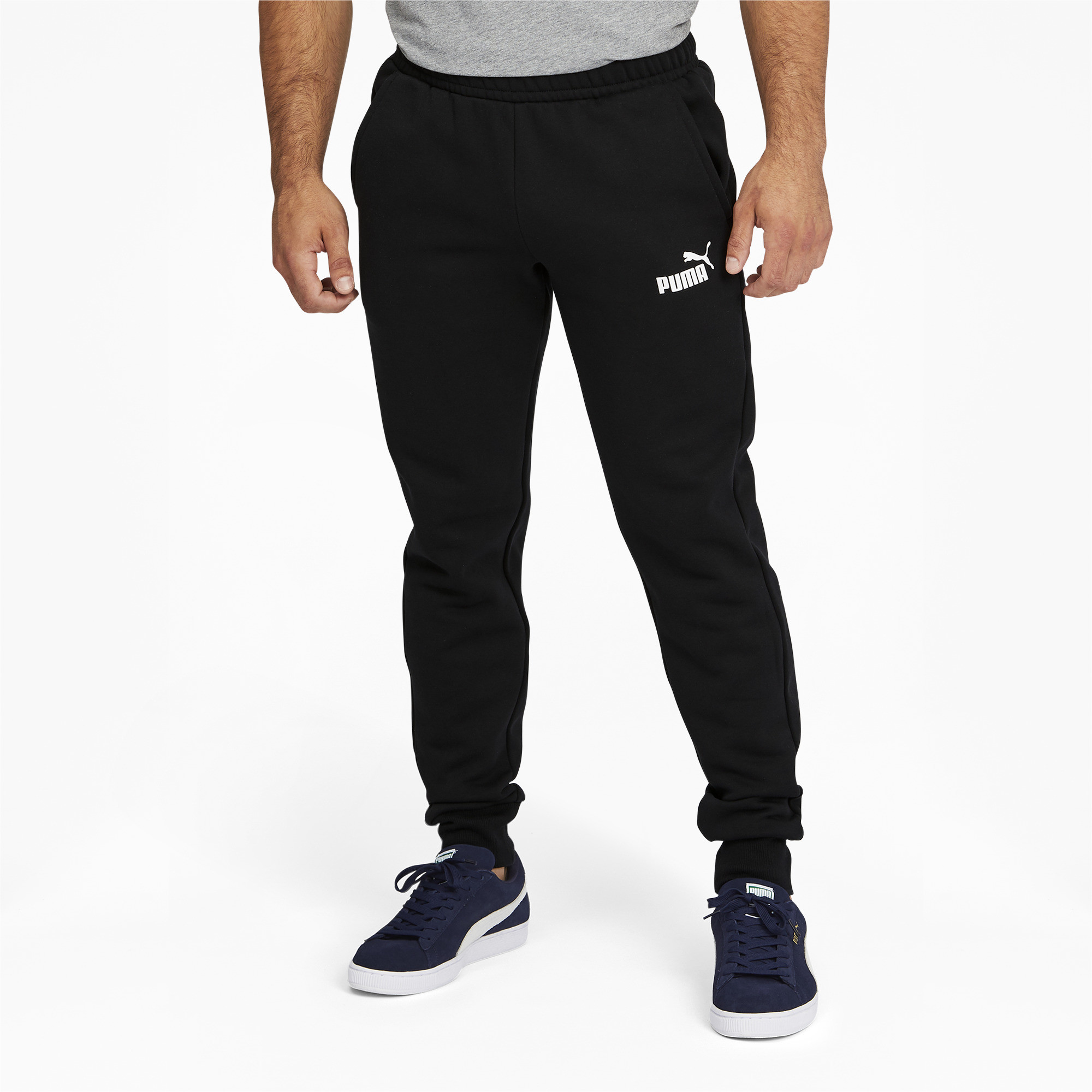 PUMA-Men-039-s-Essentials-Logo-Sweatpants thumbnail 4