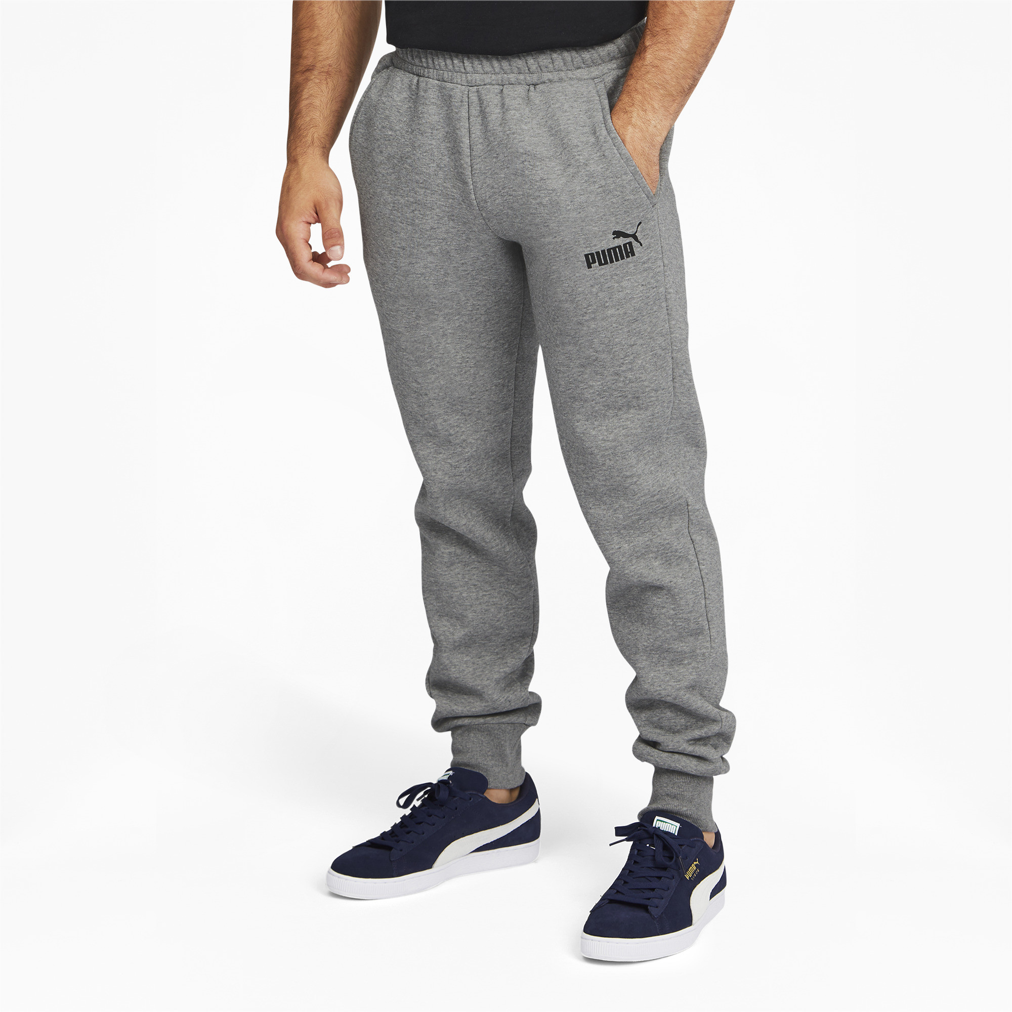 PUMA-Men-039-s-Essentials-Logo-Sweatpants thumbnail 9