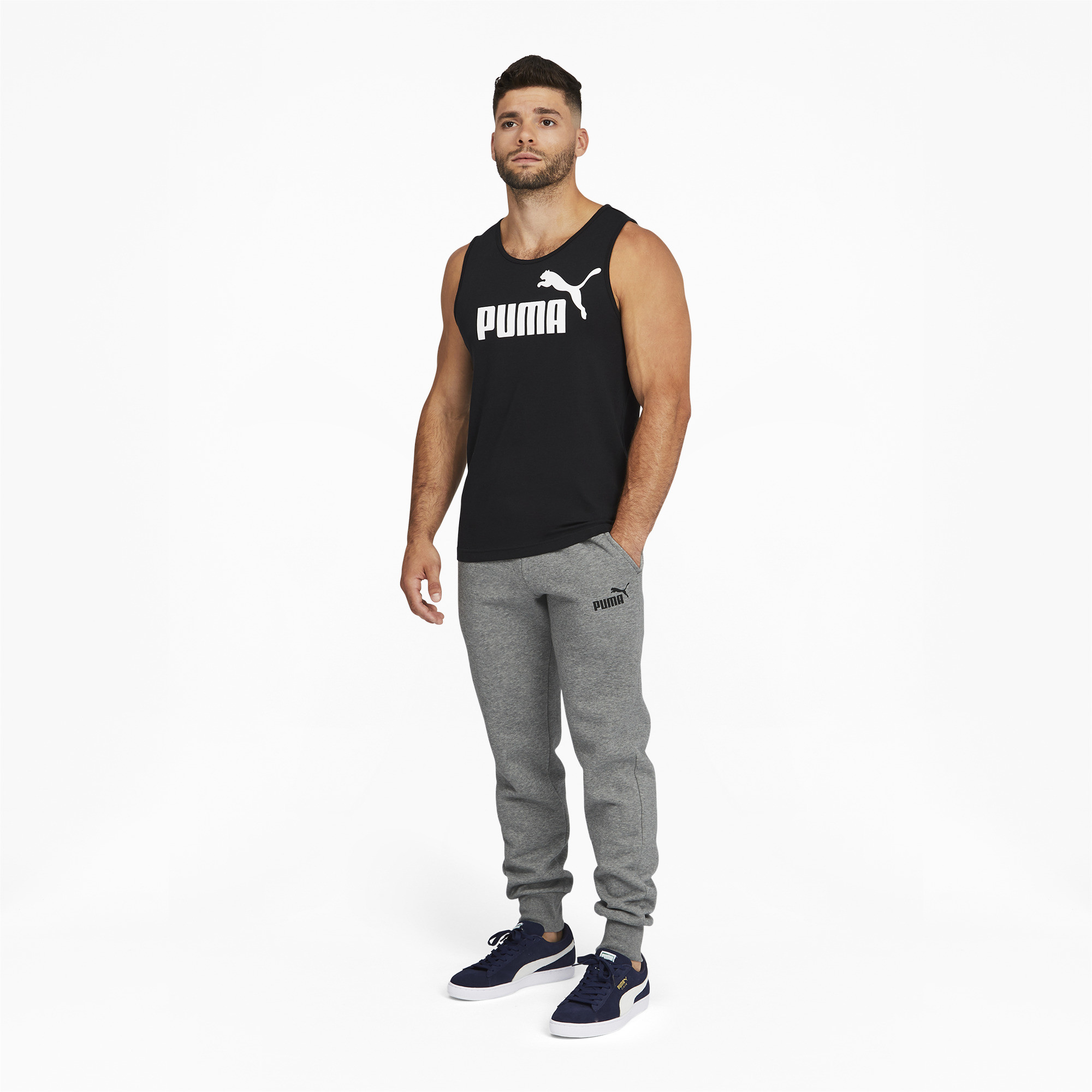 PUMA-Men-039-s-Essentials-Logo-Sweatpants thumbnail 11