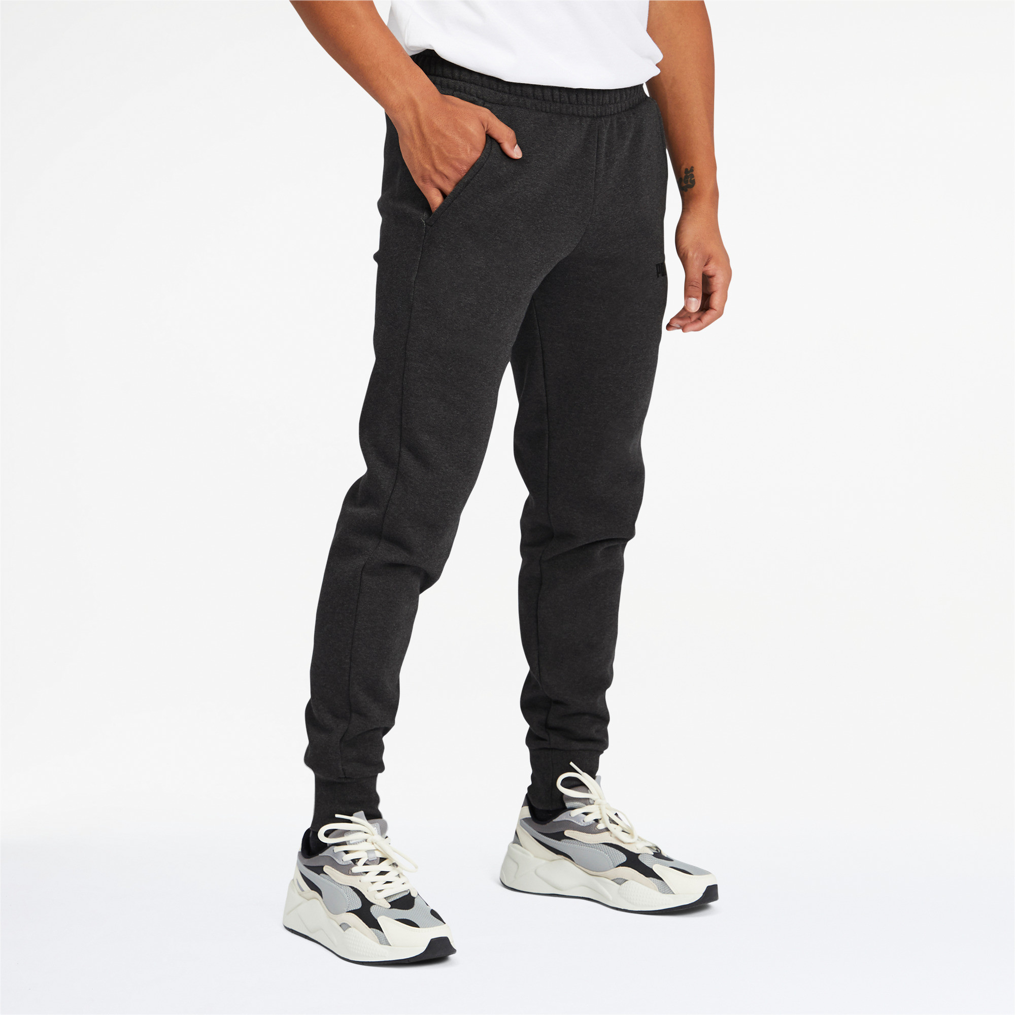 PUMA-Men-039-s-Essentials-Logo-Sweatpants thumbnail 19