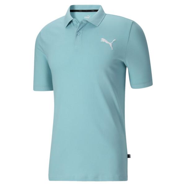Puma Essentials Men's Pique Polo In Angel Blue/Cat, Size S