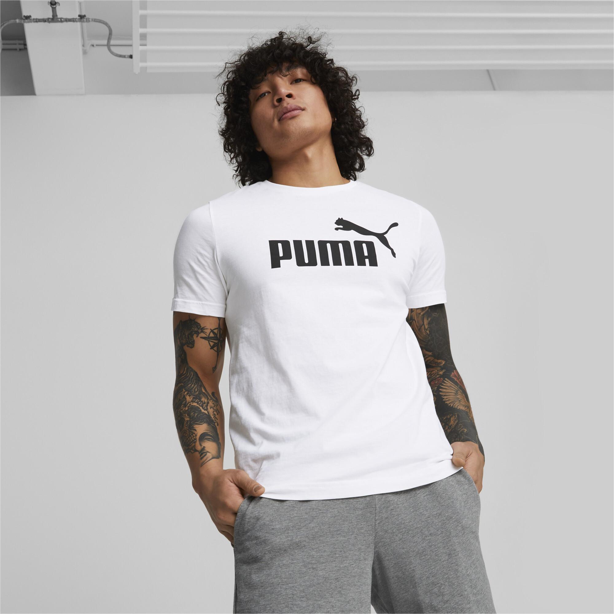 thumbnail 4 - PUMA-Men-039-s-Essentials-Logo-Tee