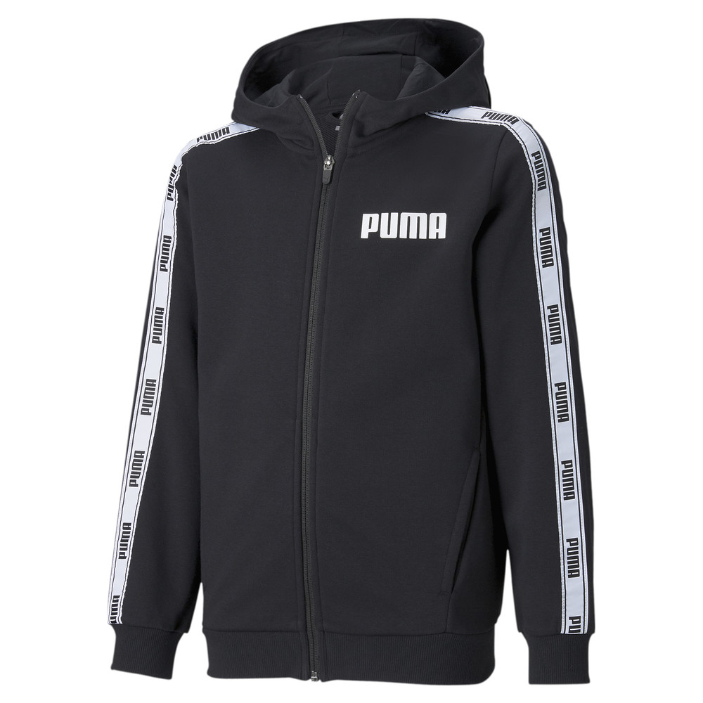 Image PUMA Tape French Terry Full-Zip Youth Hoodie #1