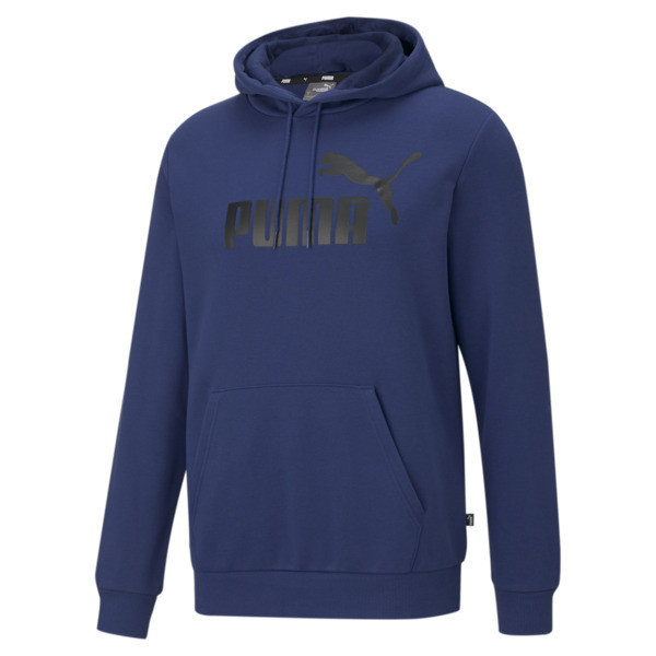 Puma Essentials Men's Big Logo Hoodie In Elektro Blue, Size Xl