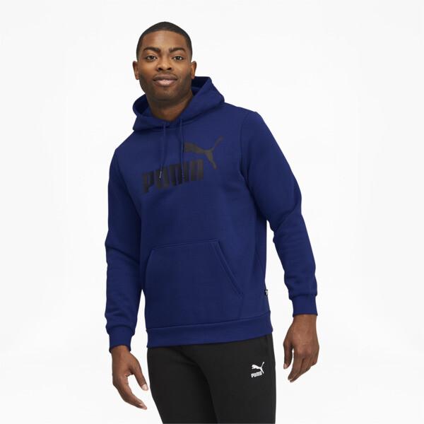 Puma Essentials Men's Big Logo Hoodie In Elektro Blue, Size L