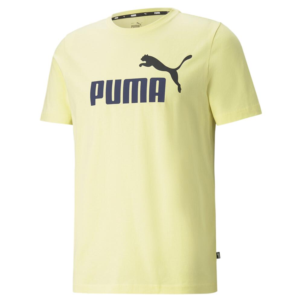 Image PUMA Essentials+ 2 Colour Logo Men's Tee #1