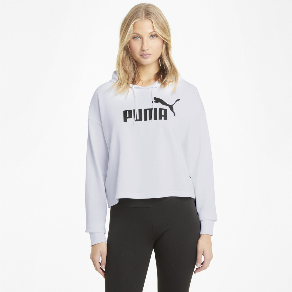 Image PUMA Essentials Logo Cropped Women's Hoodie #1