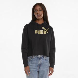 Image PUMA Essentials+ Cropped Metallic Women's Hoodie