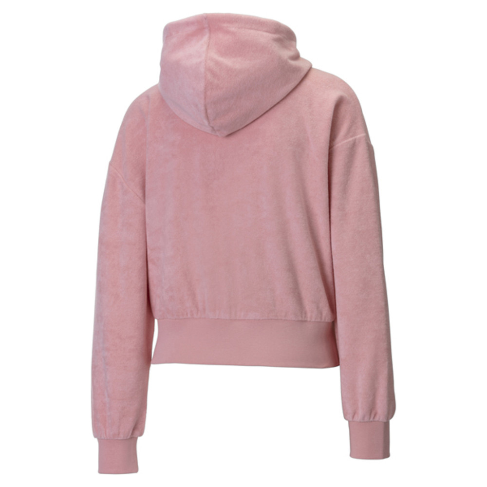 Изображение Puma Толстовка Towel Cropped Full Zip Women's Hoodie #2