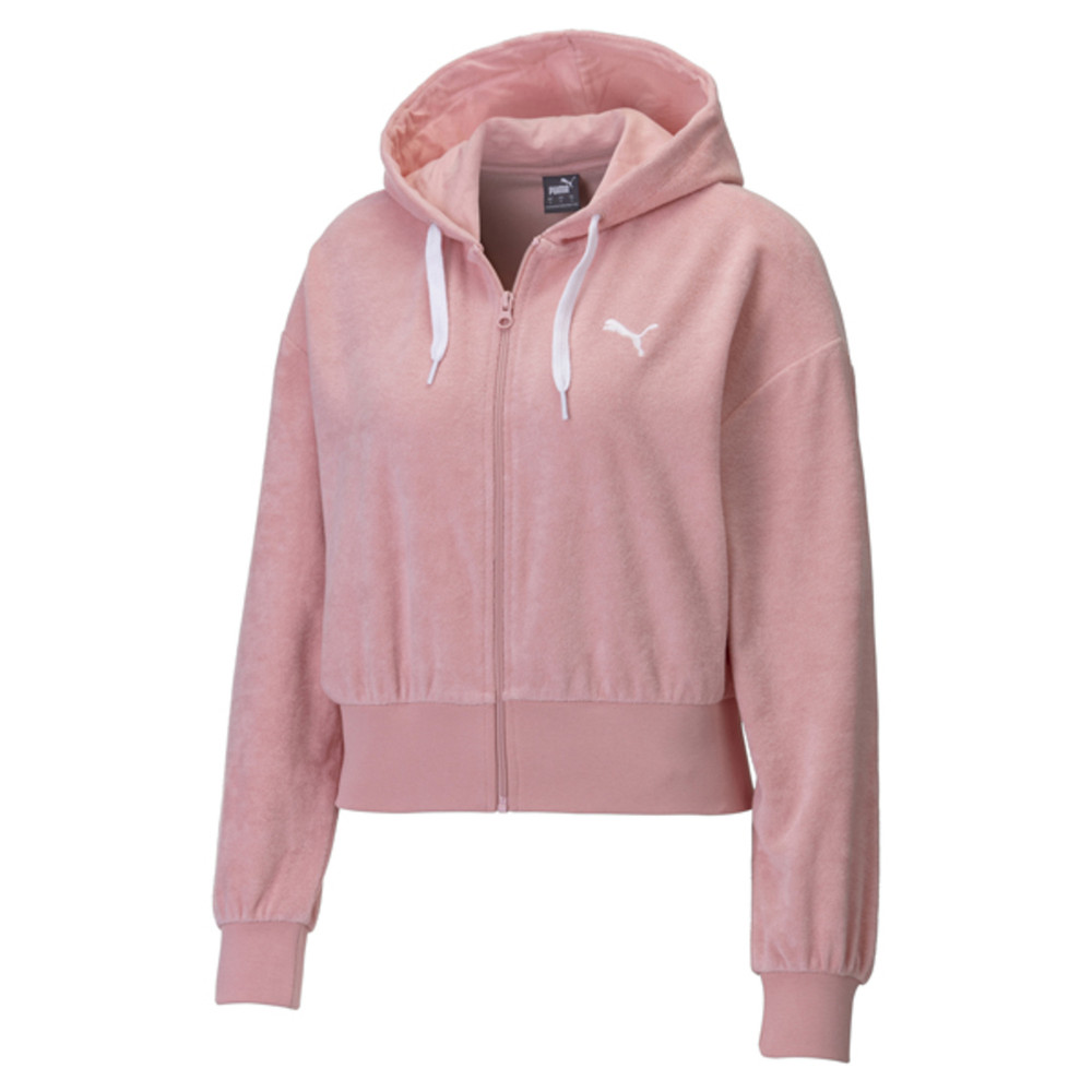 Изображение Puma Толстовка Towel Cropped Full Zip Women's Hoodie #1