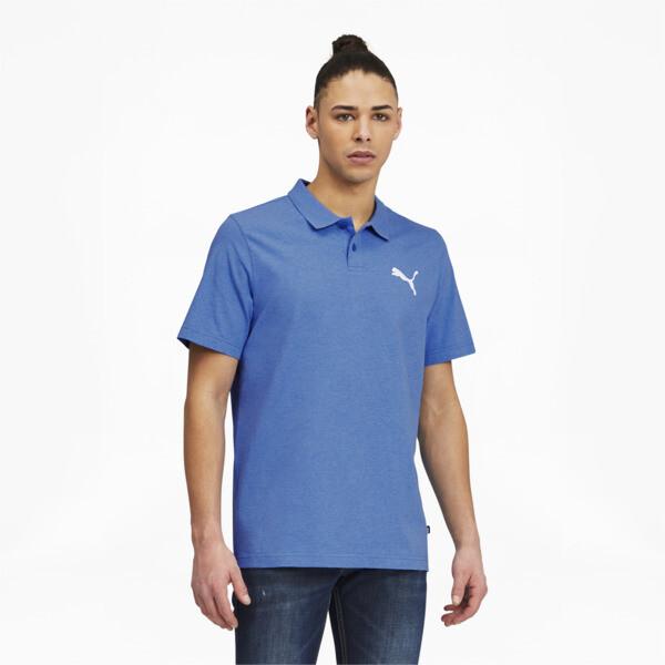 Puma Essentials Men's Heather Polo Shirt In Star Sapphire Heather, Size S