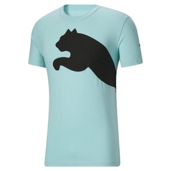 Puma Oversized Logo Men's T-Shirt In Angel Blue, Size S