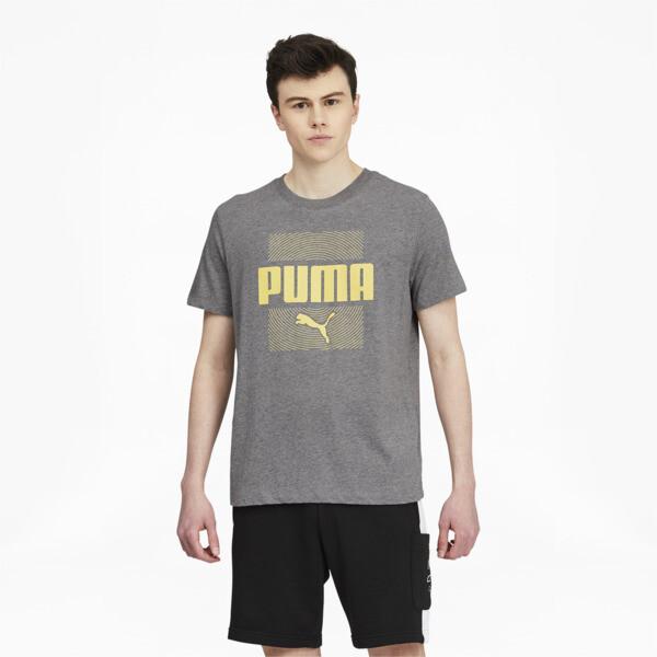 Puma Maze Men's T-Shirt In Medium Grey Heather, Size S