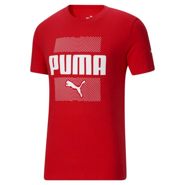 Puma Maze Men's T-Shirt In High Risk Red, Size S