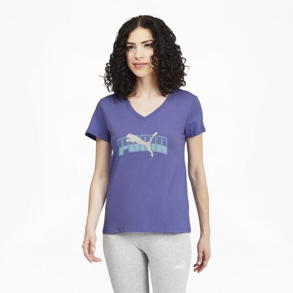 Puma Layered Women's T-Shirt In Hazy Blue, Size Xs
