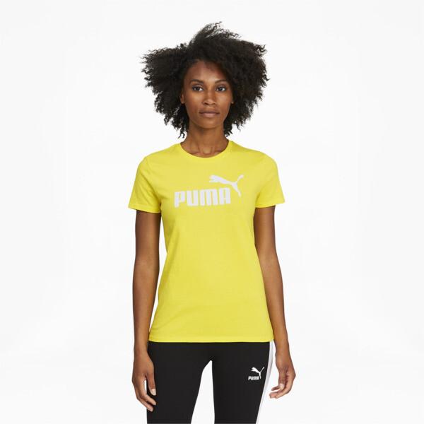 Puma Essentials Women's Logo T-Shirt In Celandine/Tonal, Size Xl