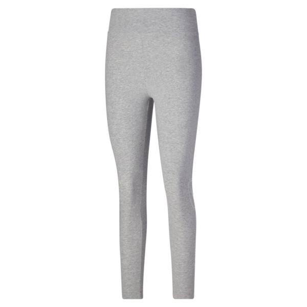 puma rebel women's high waist leggings in light grey heather, size xs