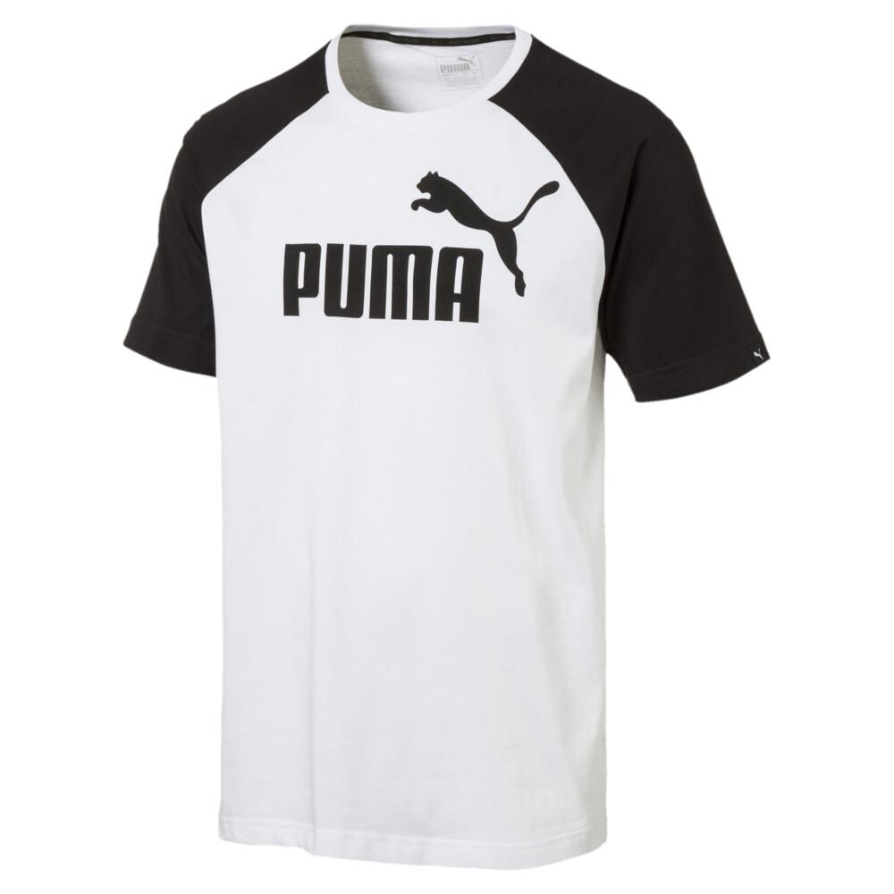 Görüntü Puma ESSENTIAL No.1 Logo Raglan Erkek T-Shirt #1