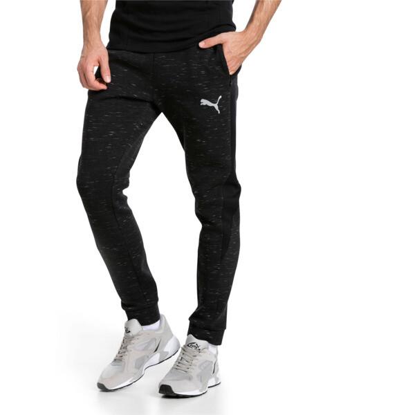 d4150a81b Pantalones de punto espacial deportivos de hombre Evostripe, Cotton Black  Heather, grande