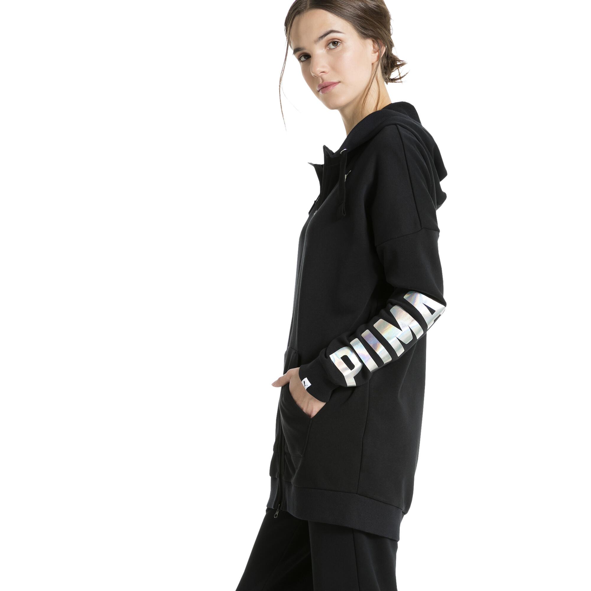 Image Puma Women's Fusion Elongated Full Zip Hoodie #2