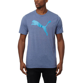 Thumbnail 2 of Big Cat Graphic T-Shirt, TRUE BLUE Heather, medium