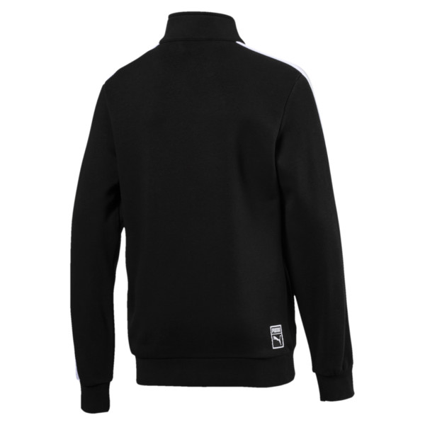Boys' Classic T7 Track Jacket, Cotton Black, large