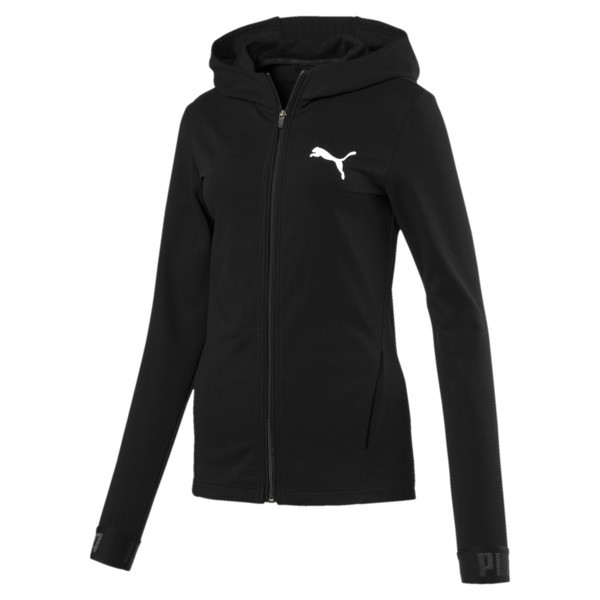Active Urban Sports Full Zip Hoodie, Puma Black, large