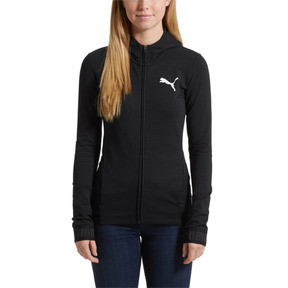 Thumbnail 2 of Active Urban Sports Full Zip Hoodie, Puma Black, medium