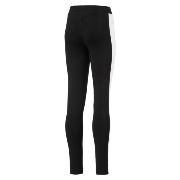 Classics T7 Girls' Leggings, Cotton Black, large