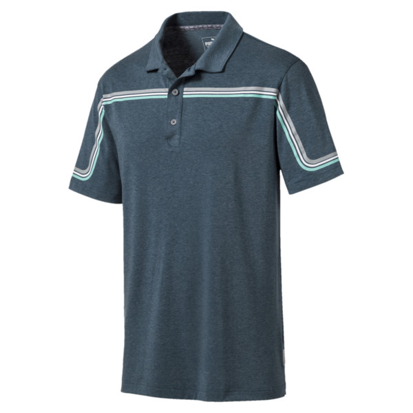 Looping Men's Golf Polo, Gibraltar Sea Heather, large