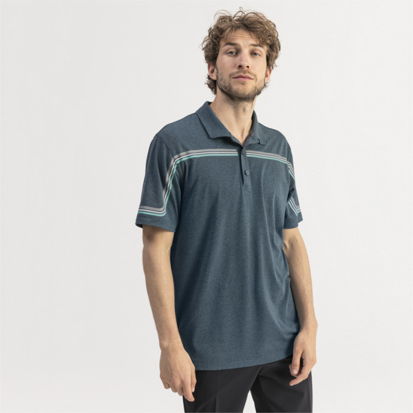 Looping Herren Golf Polo, Gibraltar Sea Heather, large